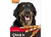Лакомство за куче Chick'n Snack – солети обвити с пилешко месо – 65 гр.
