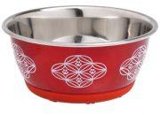 метална хранилка инокс Selecta червена – 350ml. ф 13см.ID-0402761