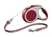 Автоматичен повод с въже flexi VARIO Long S – 8м – до 12кг – цвят червен