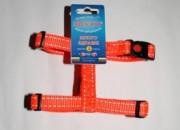 Нагръдник  оранжева лента със светлоотразителни нишки, среден – 15мм/30-50см