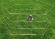 Ограждение за дребни животни с шест елемента и вратичка.  ID: 1401730