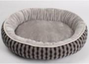 Легло кръг плюш сиво S – 50 х 40 х 15 см.