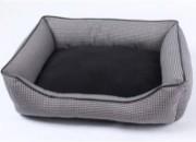 Легло сиво/черно с кожен кант S – 50 х 40 х 15 см. Продукт – 213223 S