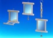 Огледалце за птици с кацалка – 10х10х10см