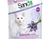 Sanicat Diamonds Lavender – силиконова котешка тоалетна с аромат на лавандула 15 литра / 7.1 кг. Код803766
