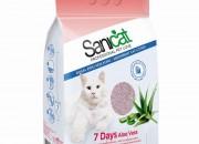 Sanicat Aloe Vera 7 Days – котешка тоалетна за 7 дни, с приятен аромат и висока степен на поглъщане -4 лт