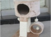 Скрачер с къщичка горе+тунел+3 топки 30*30*52см. Продукт – 63804