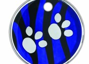 W Zebra Paws: адресник Small –  27мм.Код- IDR27W