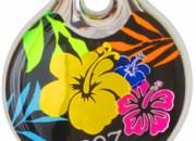 Dayglo Floral: адресник Малък – 27мм.Код- IDR27BU
