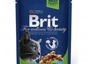 Brit Premium Adult Cat Sterilised – пауч с пиле за кастрирани котки – 100 гр.