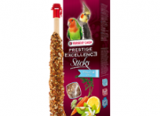 versele laga Prestige Excellence Sticks Fruit & Veggies – Parakeets – препечени големи сткове със семена, киви, лимон и парченца морков – 2 стика x 70 гр.)