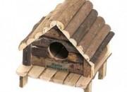 Дървена къщичка за хамстер и джербил Hudson – 14х12х13см .