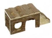 Дървена къщичка за чинчила, зайче, порче Skippy  – 40х18х16см