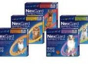Merial NexGard Spectra – защита от бълхи, кърлежи, нематоди и превенция на дирофиларията, за кучета от 2 до 3.5 кг. / 1  таблетa /