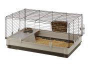 Ferplast Krolik Large  клетка с пълно оборудване за мини зайчета/зелена,червена/ 100 / 60 / 50 cm Код : 57070517