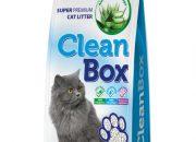 CLEAN BOX Super Premium Алое Вера, постелка за котешка тоалетна, фин бял бентонит, 5 л.ID- 0602848